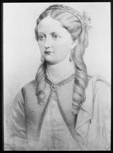 Portret van Wilhelmina Johanna Elisabeth von Knobelsdorff (1840-1872)
