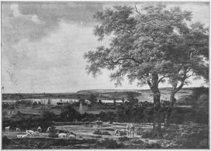 Gezicht buiten de Rijnpoort in Arnhem