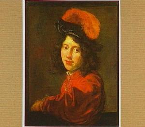 Portret van een jongeman met bepluimde baret