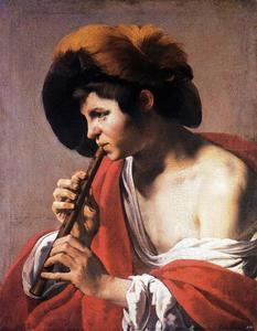 Fluitspeler (naar links gewend)