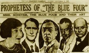 Portretten van de 'Blue Four',  Galka Scheyer, Lyonel Feininger, Wassily Kandinsky, Paul Klee en Alexej Jawlensky
