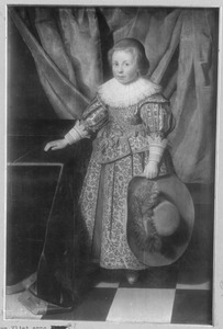 Portret van een 5-jarige jongen, waarschijnlijk Cornelis Gael (1623-1679)