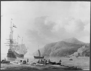 Nederlandse schepen handel drijvend op een Lavantijnse rede