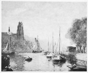 Haven en Grote Kerk te Dordrecht