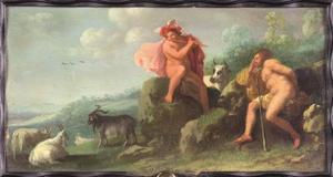 Mercurius brengt Argus in slaap met zijn fluitspel