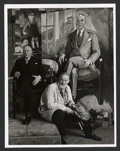 De schilder Kees van Dongen met model Henri van Abbe