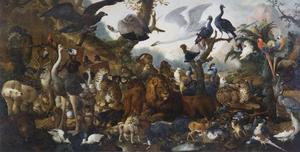 Alle dieren uit de Ménagerie van Landgraaf Karl von Hessen-Kassel (1654-1730)