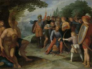 Claudius Civilis laat zijn haar afknippen na de val van Veteras
