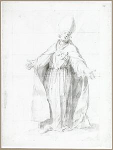 De H. Frederick, een van de twaalf bisschoppen van Utrecht