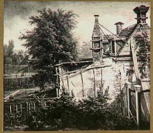 Oud buurtje met tuintjes