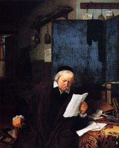 Een rechtsgeleerde in zijn studievertrek