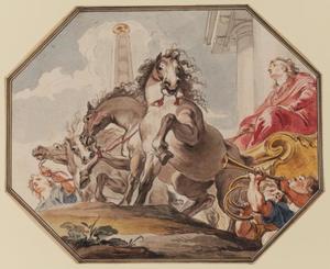 De triomf van Jozef in Egypte (Genesis 41: 40-46)
