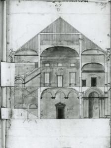 Villa Grimaldi 'Fortezza': Lengtedoorsnede