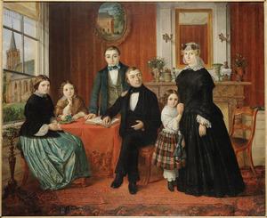 Portret van de familie  Klaas Hartshoorn de Jong (1815-1886)