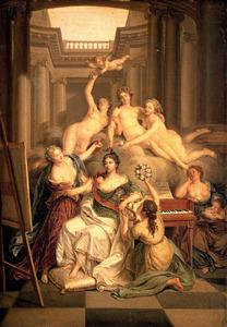 Allegorisch portret van Wilhelmina van Pruisen (1751-1820)