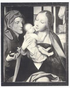 De Heilige Familie in een interieur
