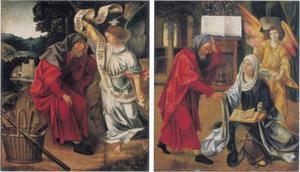 De droom van Jozef (links); Jozef keert terug naar Maria (rechts)