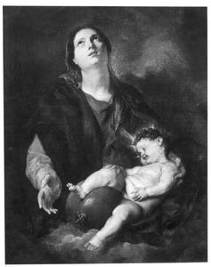 Madonna met het slapend Christuskind op schoot