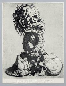 Monster met schedel en schelp