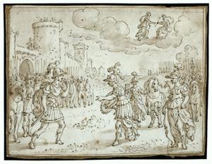 Aeneas en Turnus gaan een duel aan (Vergilius, Aeneis XII:161-175)