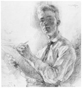 Zelfportret van Willem Gerard Hofker (1902-1981)
