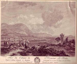 Landschap met dansend herderspaar