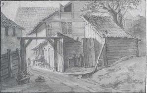 Ingang van de stadsklokkengieterij te Hamburg