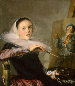 Zelfportret van Judith Leyster (1609-1660)