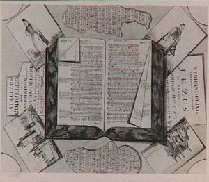 Trompe l'oeil met psalmboek