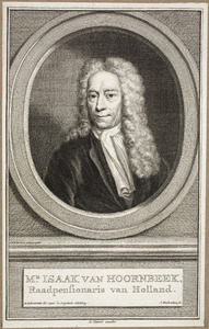 Portret van Izaak van Hoornbeek (1655-1727)