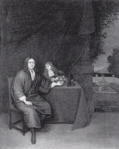 Portret van een onbekende man en jongen