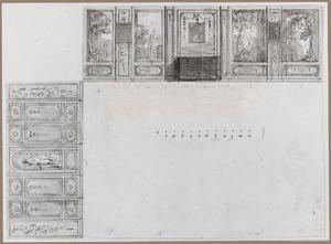 Ontwerp voor een (eet)kamer met plattegrond en twee wanden in opstand