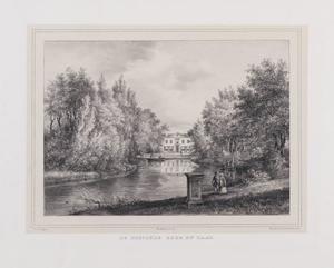 Gezicht op de hofstede Berg en Daal, gezien vanaf het water