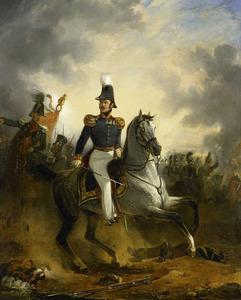 Generaal Majoor Frederick Knotzer (1782-1853) in de slag bij Houthalen gedurende de Tiendaagse Veldtocht in 1831