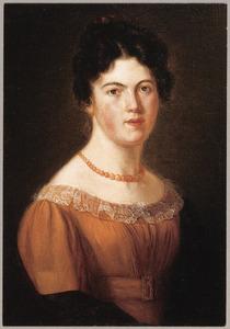 Zelf portret van Johanna Aleida Budde (1800-1852)