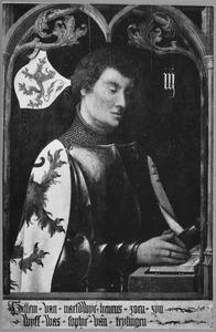 Portret van Willem II van Naaldwijk (ca. 1330-ca. 1393), Erfmaarschalk van Holland