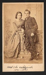 Portret van Antonius Gerardus van Hamel (1842-1907) en Elisabeth Margaretha de Kok (1851-1887)