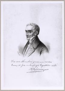 Portret van  Willem Hendrik Suringar (1790-1782)
