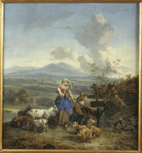 Landschap met herders