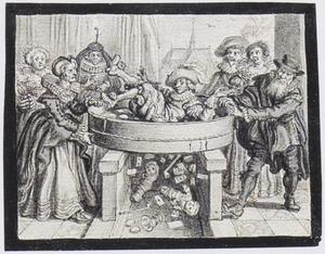 Allegorie op het Huwelijk: Het zeven van de bruidegom