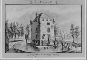 Linker- en voorzijde van het kasteel van Vleuten