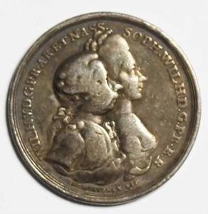 Dubbelportret van Willem V van Oranje-Nassau (1748-1806) en Wilhelmina van Pruisen (1751-1820)