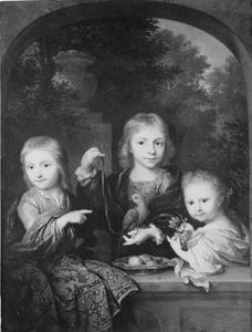 Portret van Nicolaas Geelvinck (1706-1764), Catharina Jacoba Geelvinck (1710-1759) en Cornelis Geelvinck (?-?)
