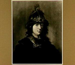 Portret van een onbekende man met een gouden helm