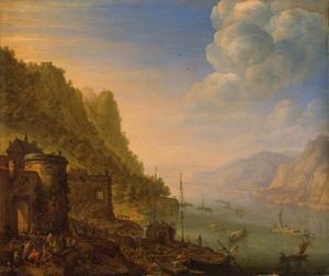 Rijnlandschap met fortificatie
