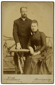 Portret van Willem Johan Hoffmann en Sara Johanna Havelaar