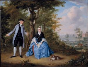 Portret van Pieter de Clercq (1748-1802) en Agatha Stockelaar (1753-1781)