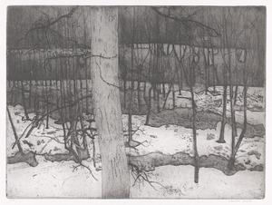 Fort in sneeuw, Rhijnauwen