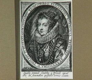 Portret van Elisabeth van Bourbon, koningin van Spanje, echtgenote van Philips IV