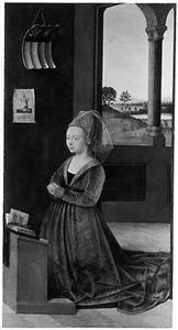 Portret van een vrouwelijke stichter
